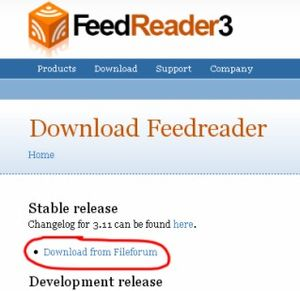 Feedreader Screenshot