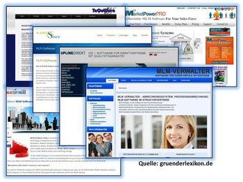Collage MLM Software 6 Bilder