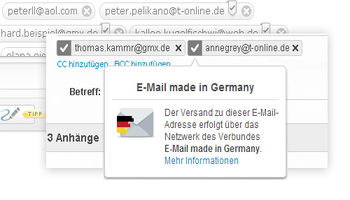 Siegel von E-Mail made in Germany