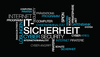 word cloud zur IT sicherheit