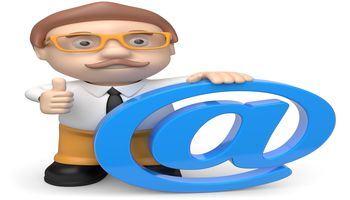 Businessman mit at