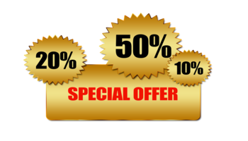 Special offer: 20%, 50%, 10%