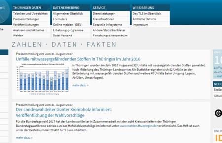 Screenshot www.statistik.thüringen.de