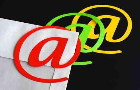 Brief mit @ Zeichen